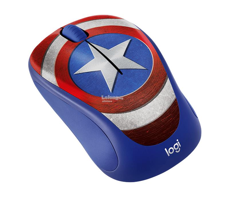 LOGITECH M238 MARVEL COLLECTION WIRELESS MOUSE (CAPTAIN AMERICA)