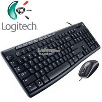 Logitech MK200 Media Combo Wired USB Keyboard+Wired USB Optical Mouse
