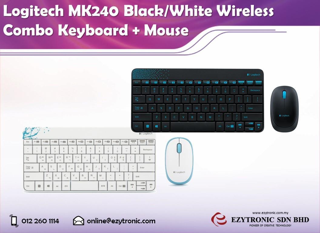 Logitech Mk240 Black White Wireless End 12 2 2016 515 Pm Combo Keyboard Mouse