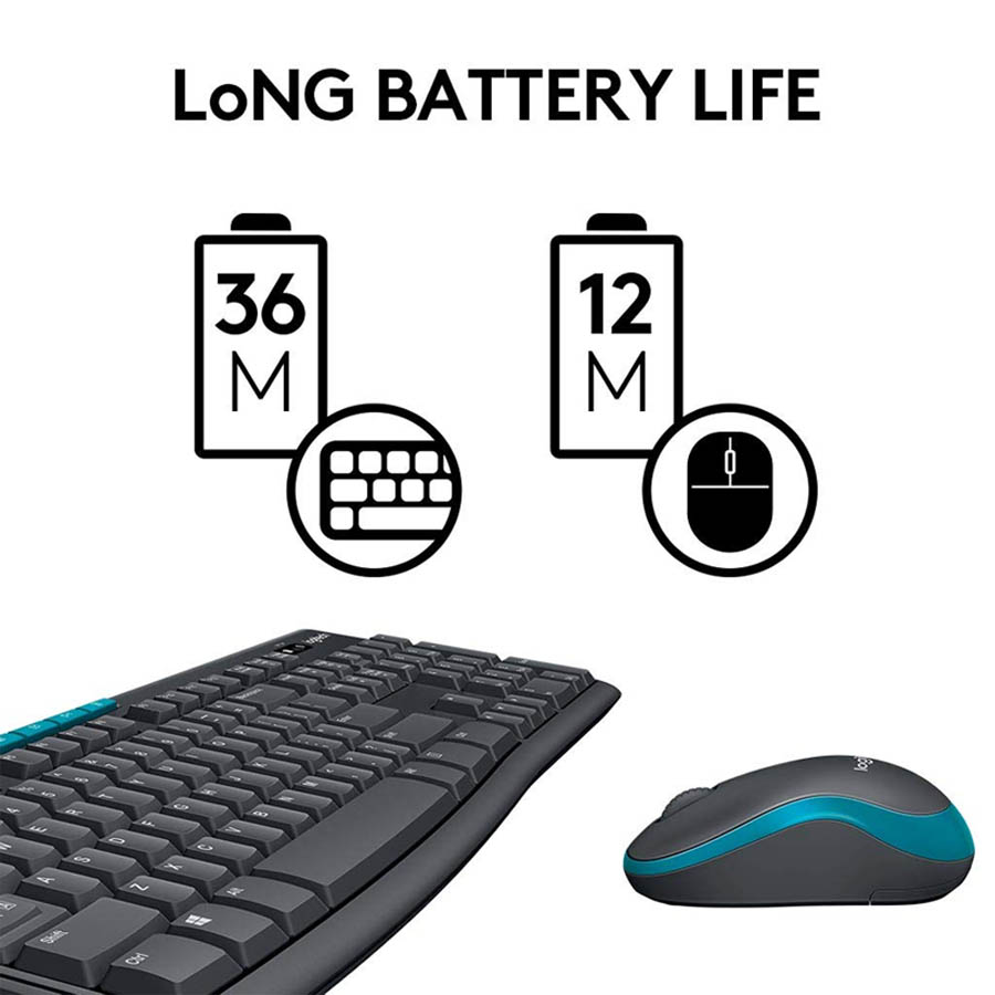 Logitech MK275 Wireless Combo Keyboard and Mouse