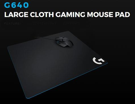 LOGITECH MOUSE PAD LARGE G640 (943-000061) CLOTH