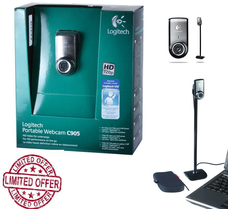 Logitech Portable Webcm C905 HD Carl Zeiss optics with autofocus