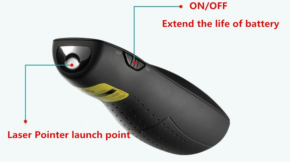 Logitech R400 Wireless Presenter Red Laser Pointer PPT USB