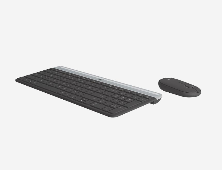 LOGITECH SLIM COMBO MK470 COMPACT QUIET WIRELESS KEYBOARD & MOUSE