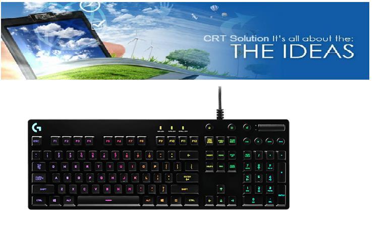 Logitech Wired Keyboard USB Gaming G810 Orion Spectrum