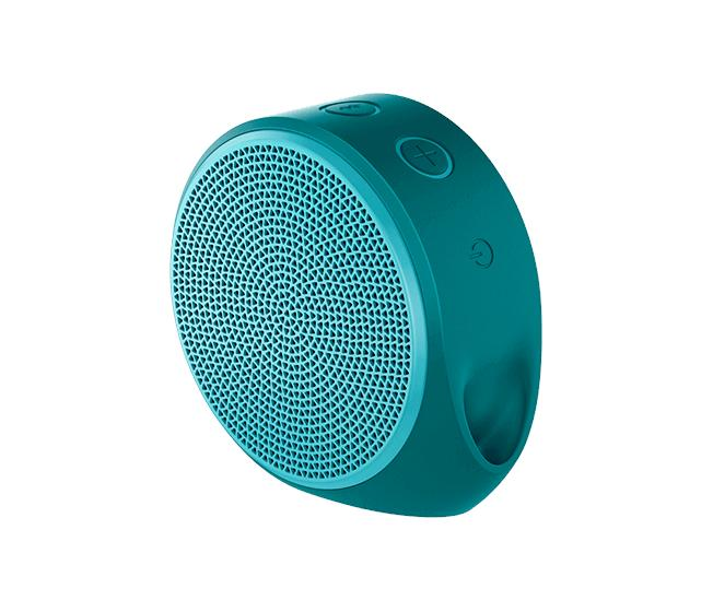 Logitech X100 Blue housing with orange grill