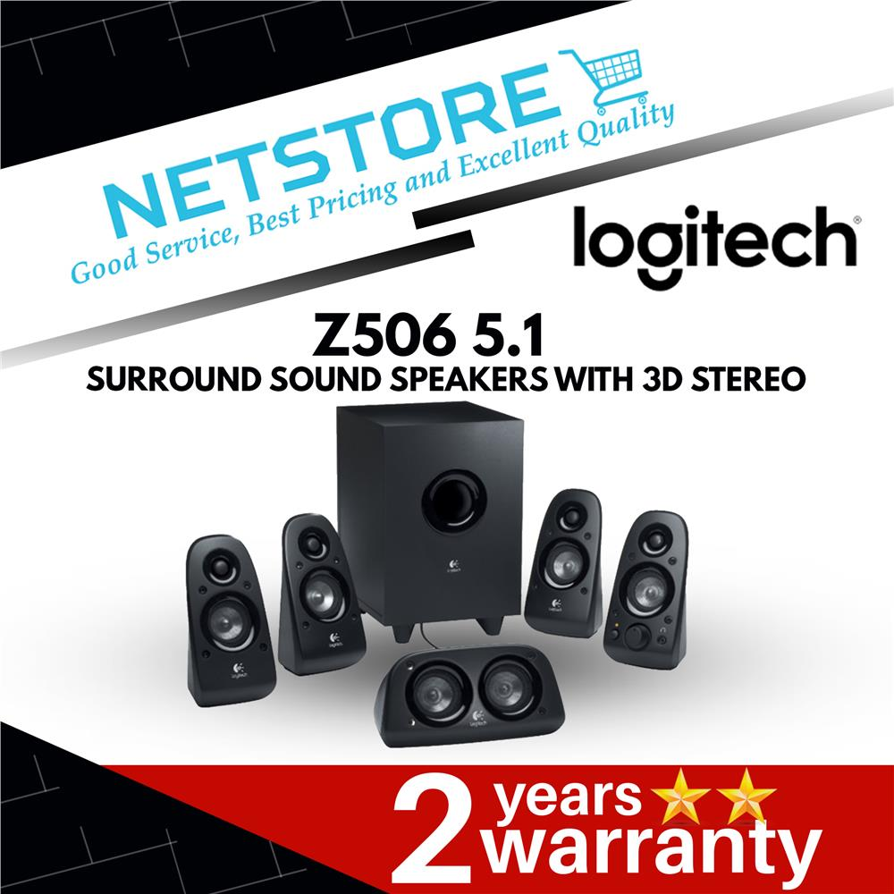 LOGITECH Z506 5 1 Surround Sound Speakers with 3D Stereo