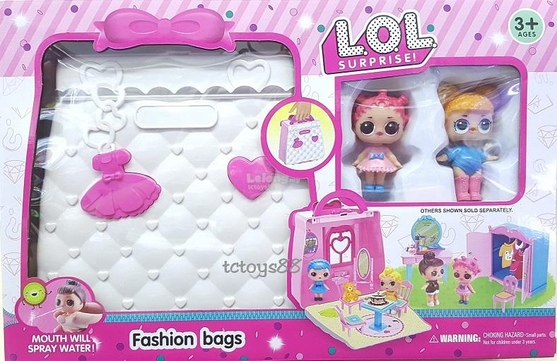 LOL FASHION BAG PLAYSET LOL SURPRISE TOYS CUTE PRINCESS DOLL TOY