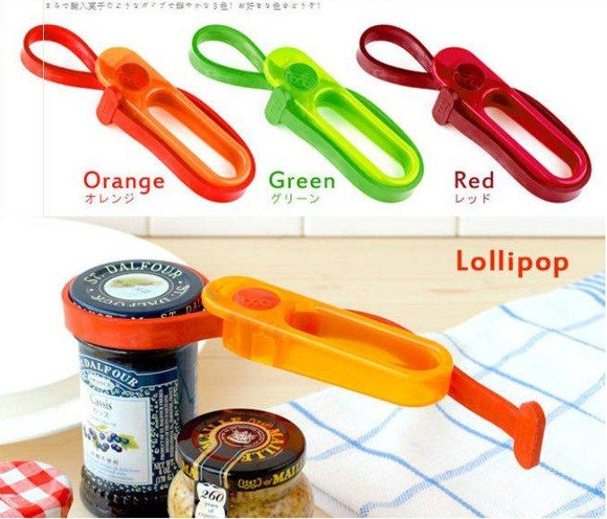 Lollipop Bottle Jar Cap Lid Opener Strap Wrench