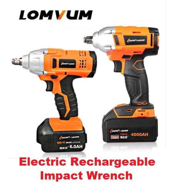 Lomvum Integrated Brush Wrench Cordless Electrical Impact Nut