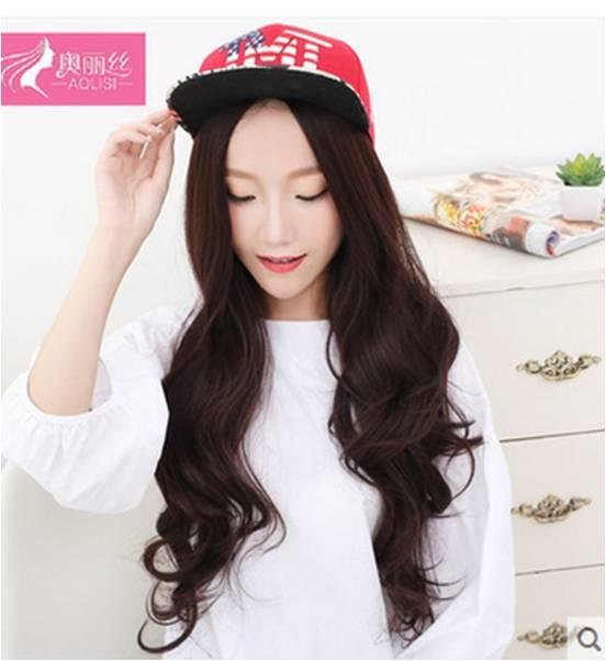 long curve wig ds8/rambut palsu/ ready stock