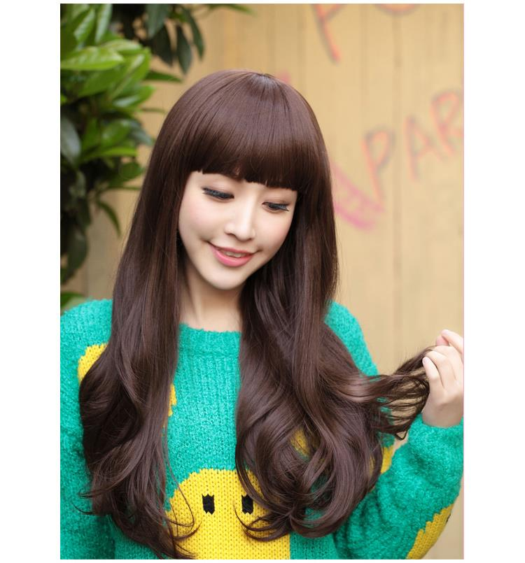 long curve wig kk3/ready stock/curve hair/rambut palsu