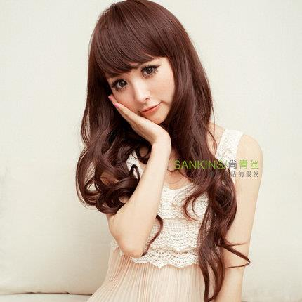 long curve wig kk8/ready stock/curve hair/rambut palsu
