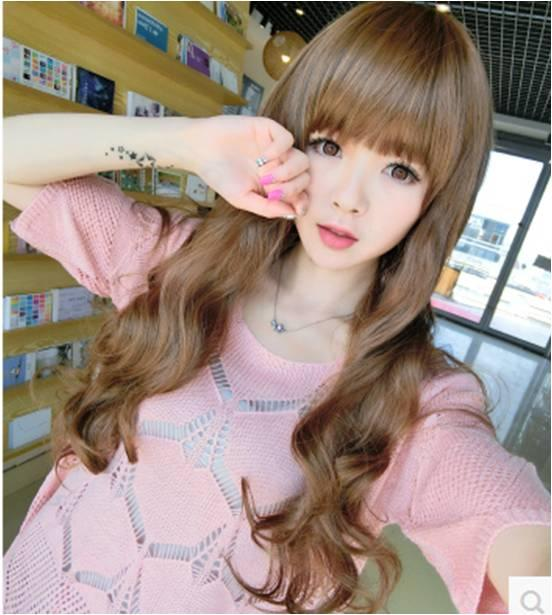 long curve wig m20/ curve hair/rambut palsu/ready stock