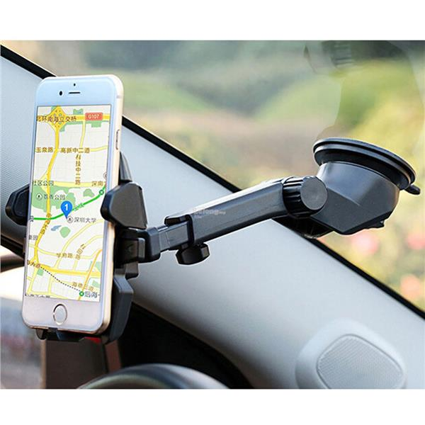 Long Neck One Touch Car Dashboard/Glass Mount Phone Holder