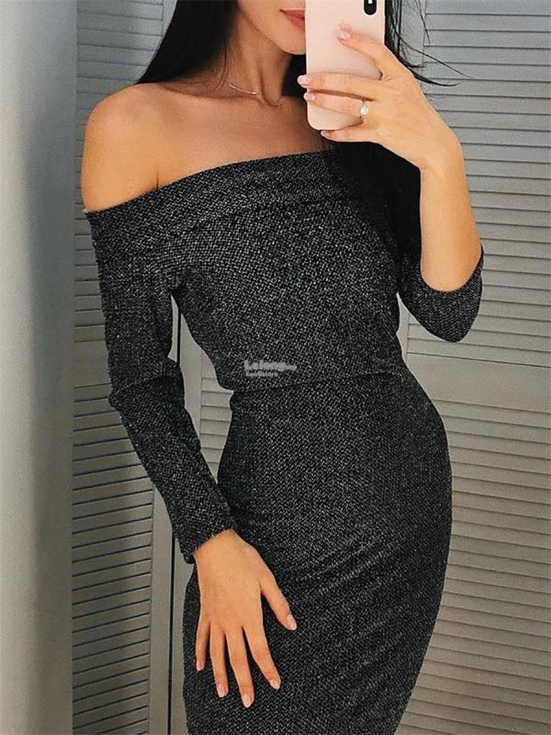 New long sleeve one-piece dress