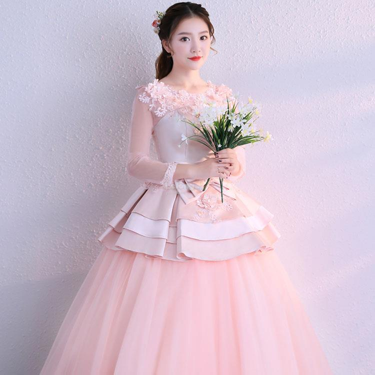Long Sleeve Wedding Dress with a C (end 12/10/2018 12:15 PM)