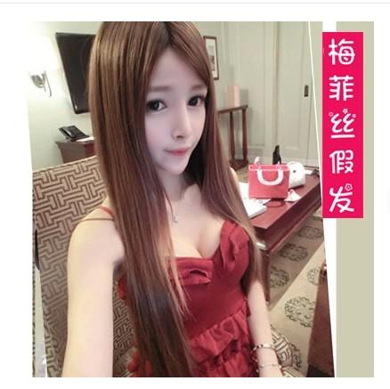 Long straight wig/ready stock/rambut palsu 1