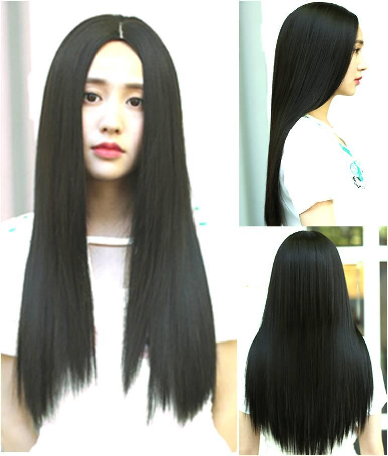 Long straight wig vx7 /ready stock/ rambut palsu
