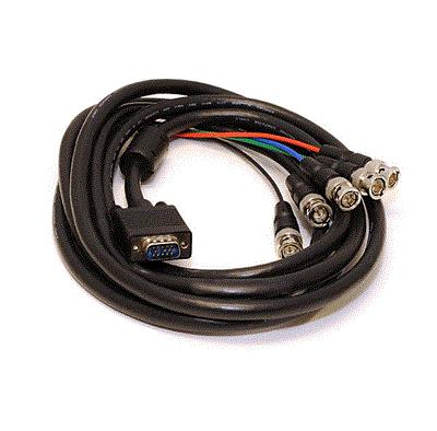 Long VGA HD15 Male Split to 5X BNC Plugs Monitor Cable 4m