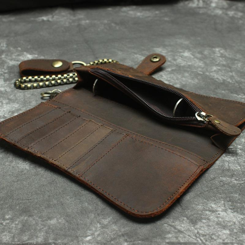 long wallet purse real leather cow leather RFID blocking_crazy horse: Best  Price in Malaysia