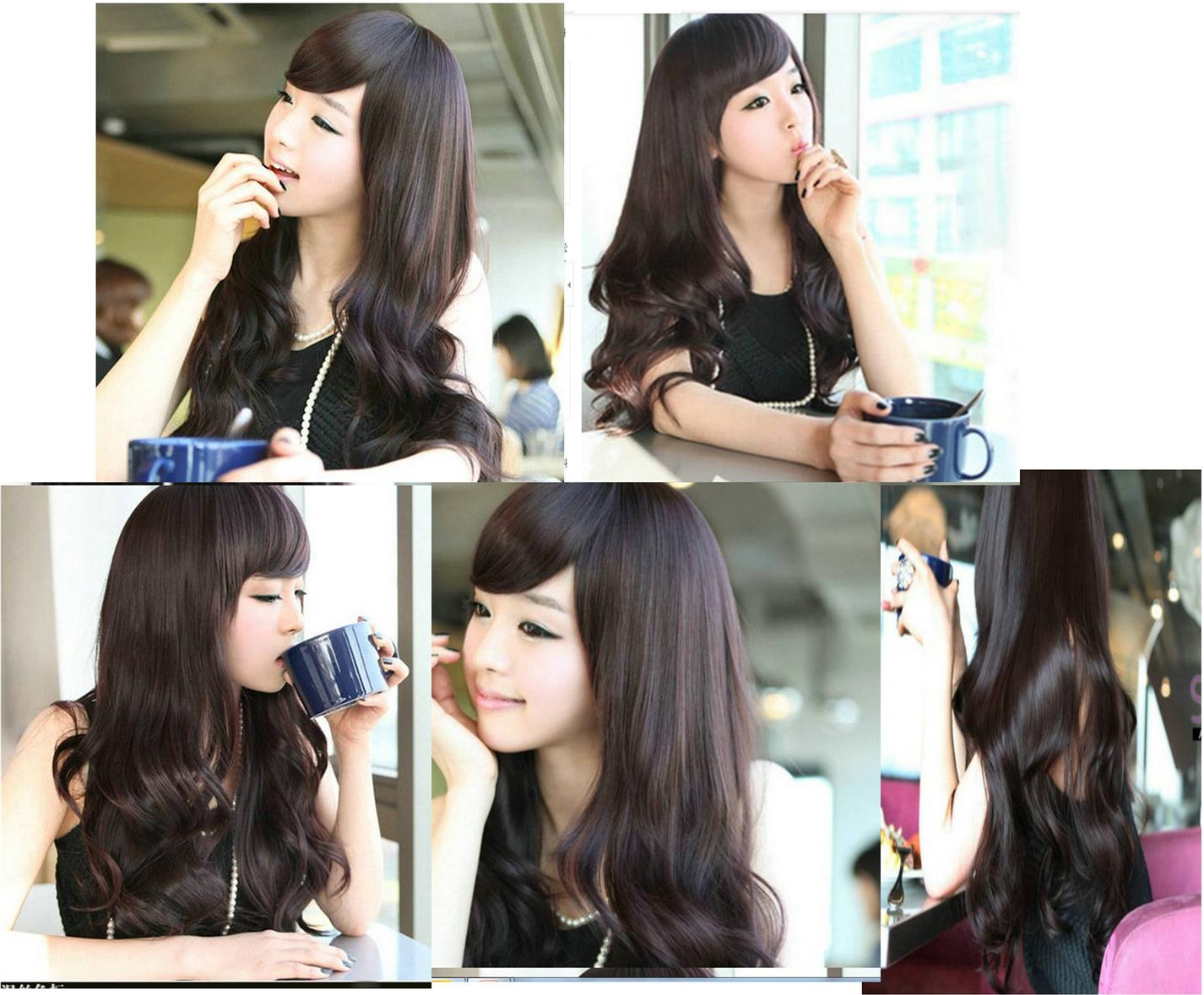 Long wig*F13 ready stock-rambut palsu