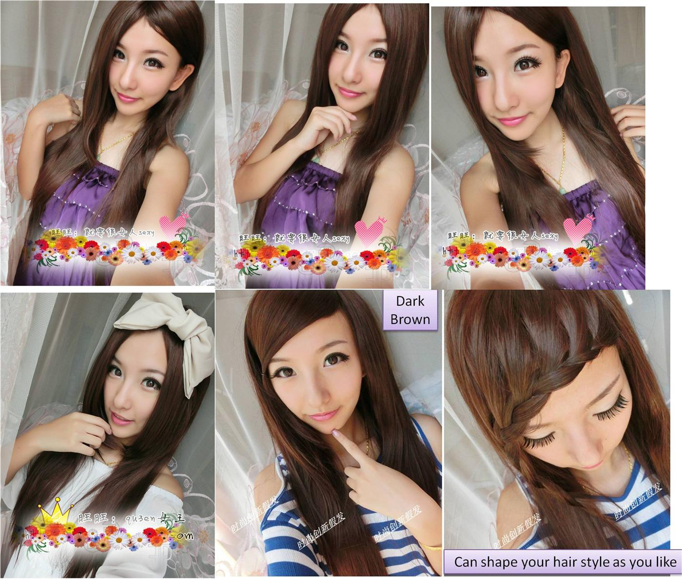 Long wig*H3  ready stock-rambut palsu/ promotion