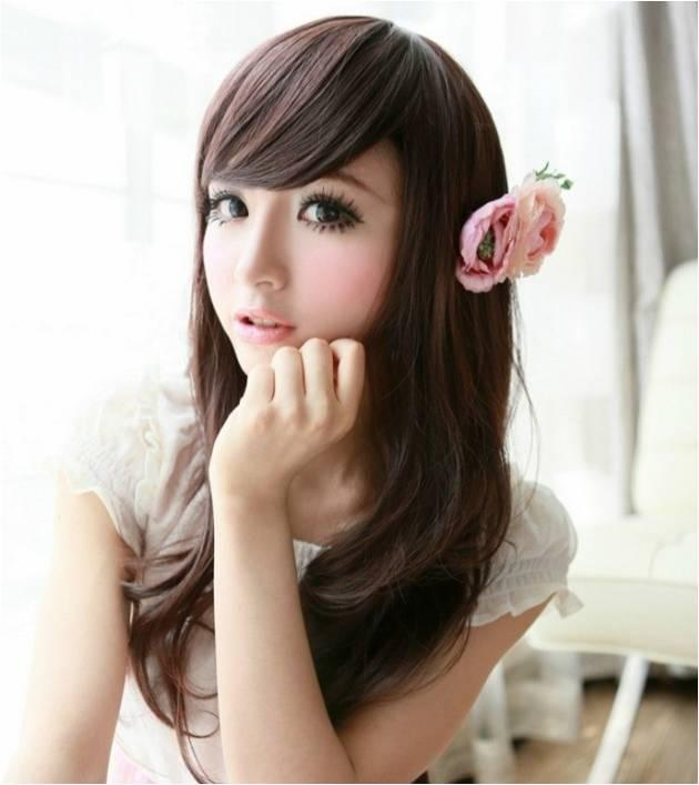 Long wig*ready stock d19-rambut palsu