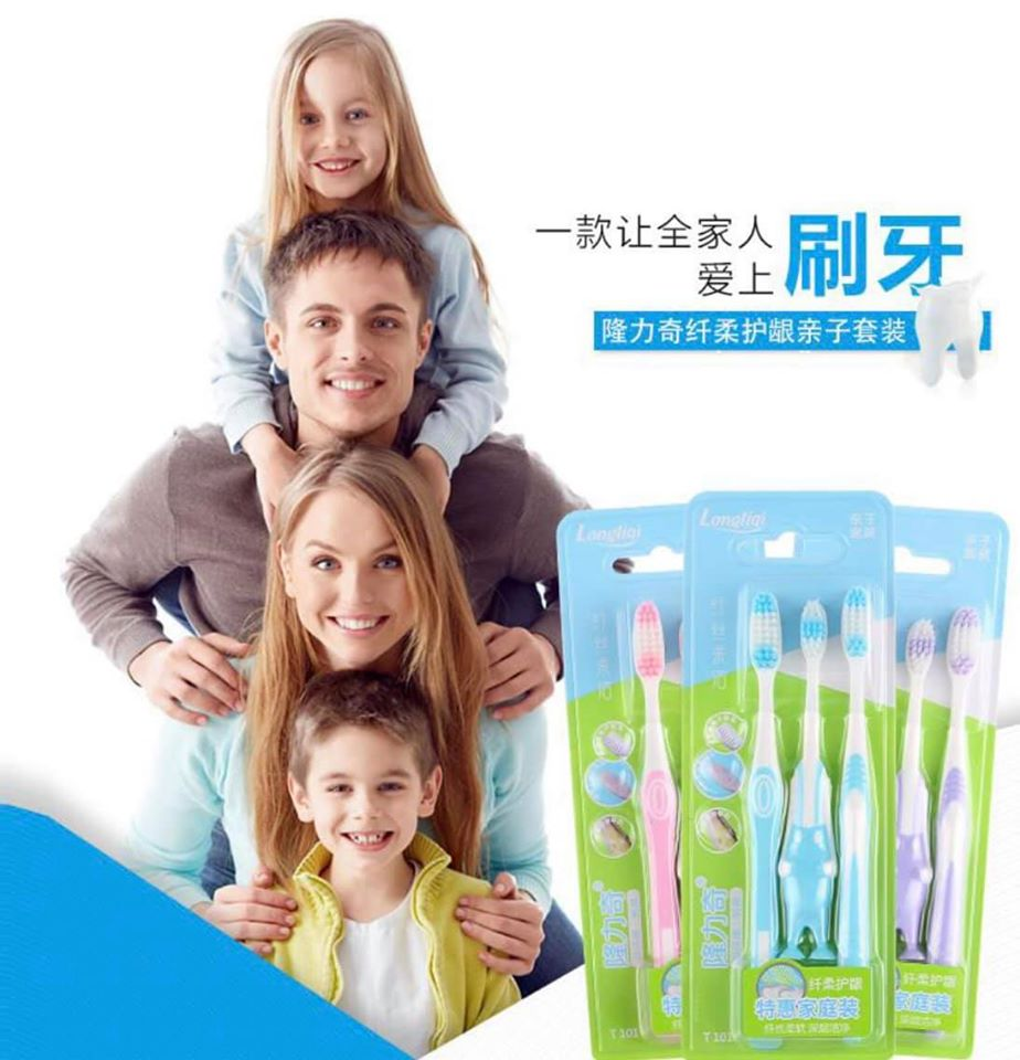 LONGRICH FAMILY PACK TOOTHBRUSH T101