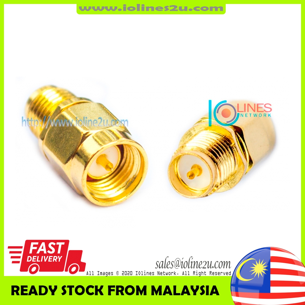 Low Loss 24k RP-SMA Female to SMA Male adapter Converter Gender Changer WIFI 3