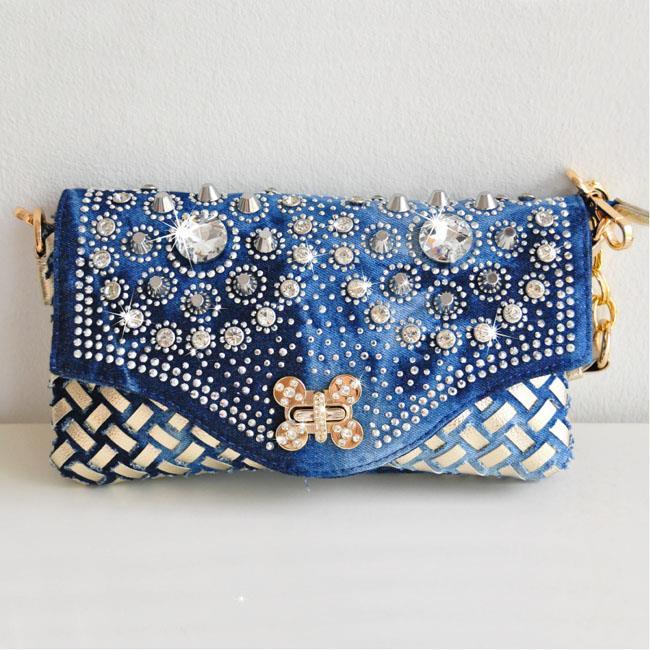 Loss Clearance Tw Luxury Shine Diamond Dinner Bag Jean Handbag