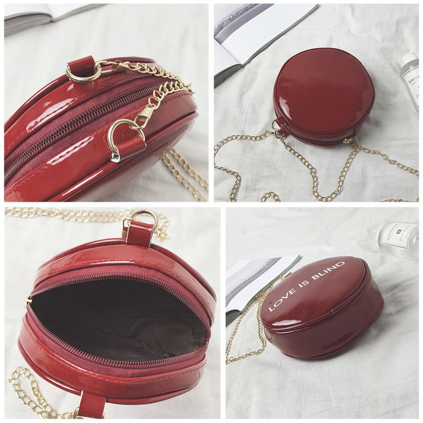 Round Love Blind Sling Bag Handbag Shoulder Bags Travel Beg
