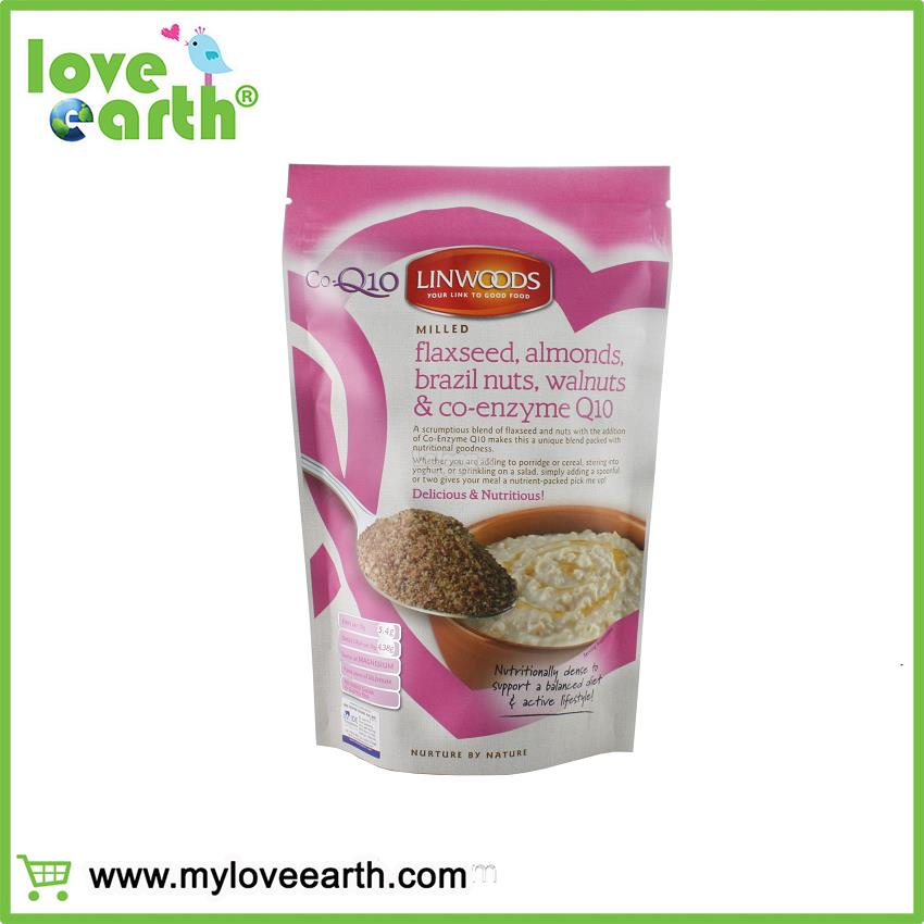 LOVE EARTH LINWOODS MILLED FLAXSEED, ALMONDS, BRAZIL NUTS, WALNUTS AND