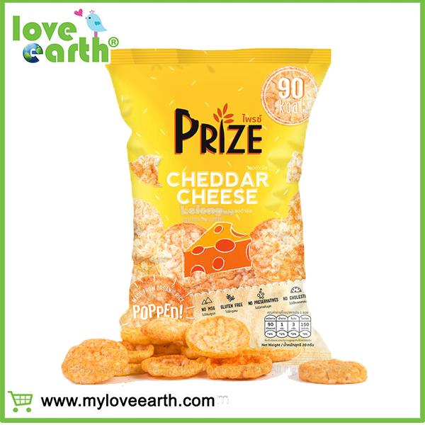 LOVE EARTH PRIZE RICE CRACKER CHEDDAR CHEESE 20G