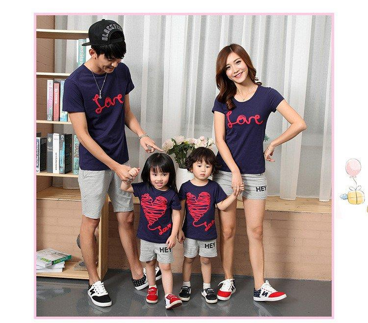 Love Graphic T-Shirt Family Setwear (iKR061908)