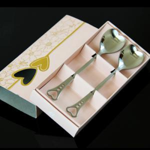 Love Heart Stainless Steel Portable Couple Spoon 2pcs