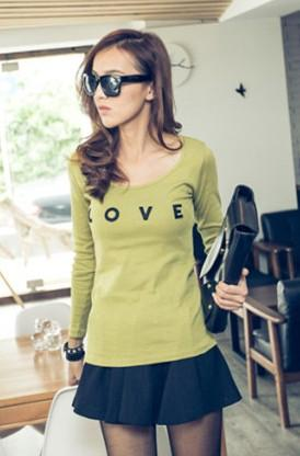 Love Long-Sleeve T-Shirt (Green)
