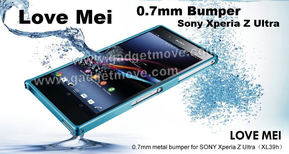 the latest 2b992 2d56c Love Mei 0.7mm Sony Xperia Z1 Bumper Series Aluminium Case