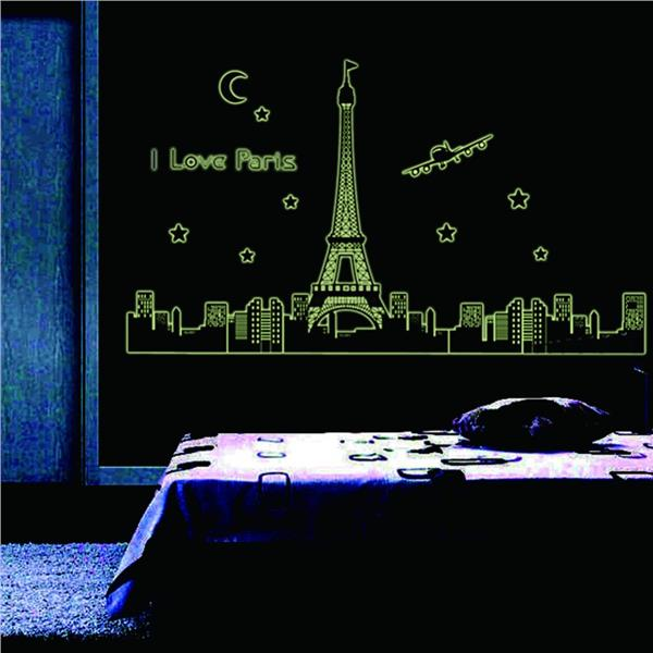 Love in Paris Luminous Wall Sticker
