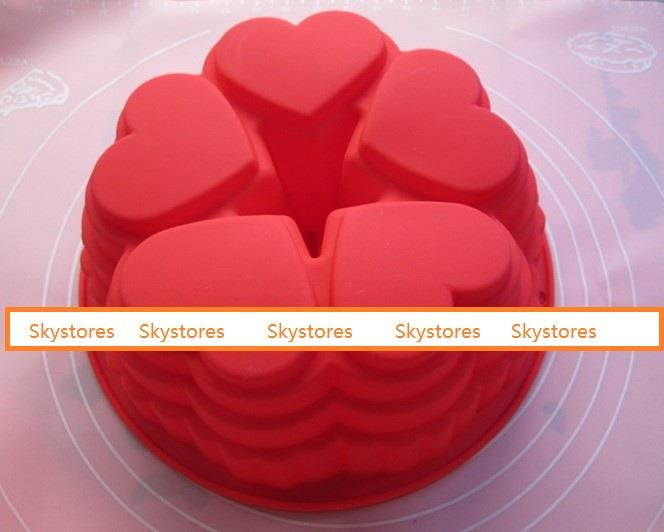 Love Shape Baking Cake Mold Silicone Mould