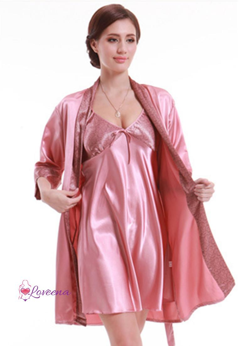 hot sale online f6879 eb16c Loveena 2 in 1 Robe + Dress Pyjamas Lingerie Set L7021