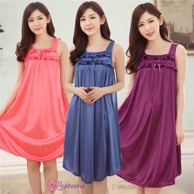 9483dc2977 Loveena Ice Silk Nightie Sleepwear Lingerie Dress L7050 (5 Colours)