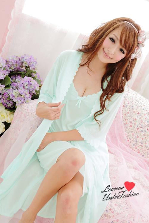 14575fc505 Loveena Plus Size Comfy Robe Pyjamas Lingerie P0309 (5 colors)