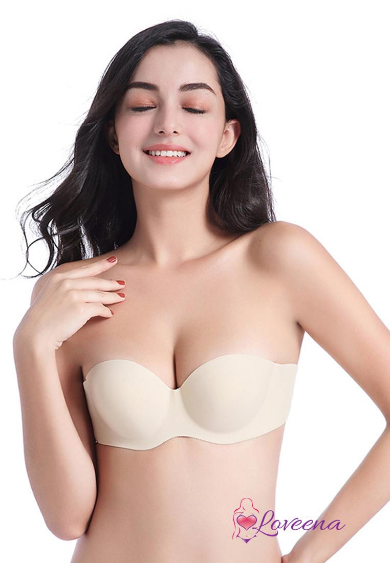 choose official popular stores autumn shoes Loveena Stick On Strapless Push Up Invisible Bra B1010-BEI