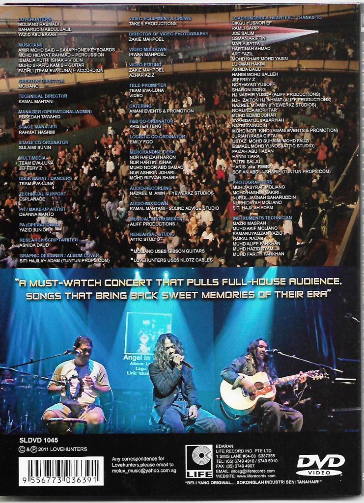 Lovehunters Concert Live At The Esplanade 2011 DVD