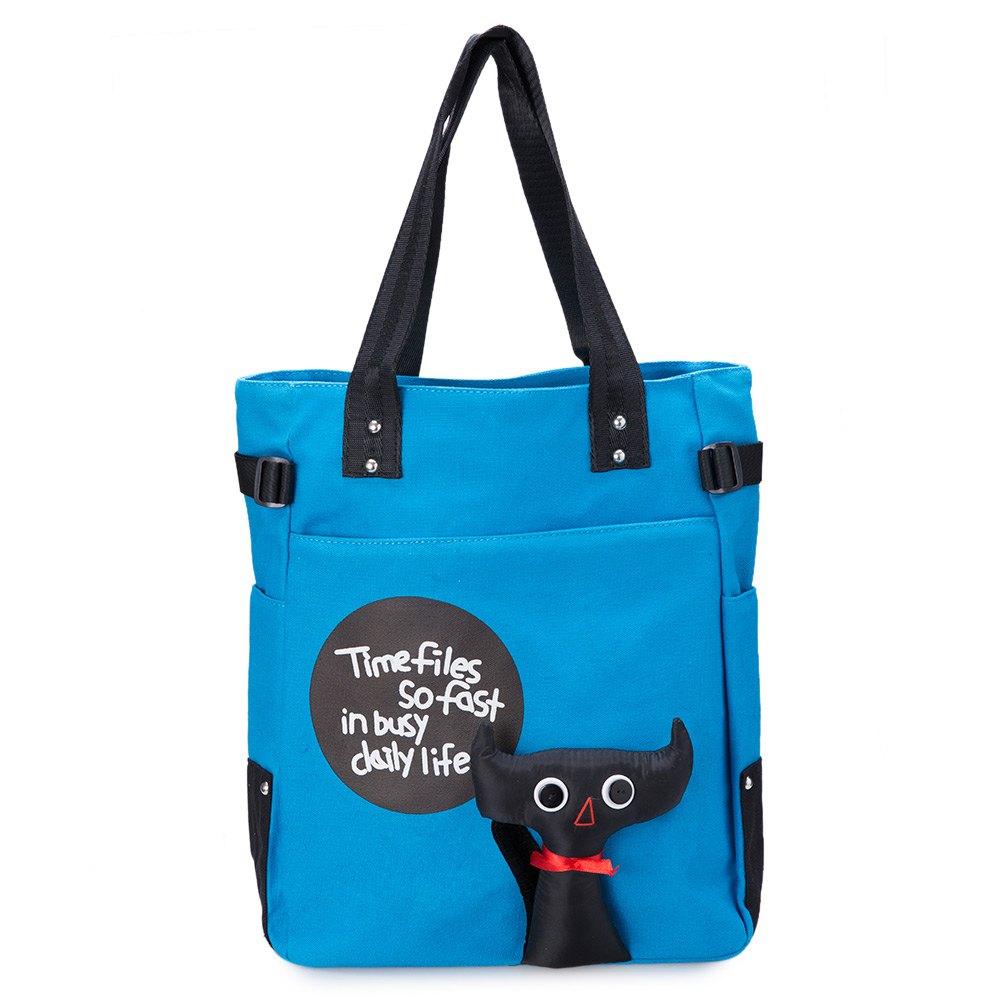 Lovely Cartoon Stamp Designer Canvas End 9 22 2020 457 Pm Female Shoulder Bag Large Capacity Travel Multi Color Women Bags Bl