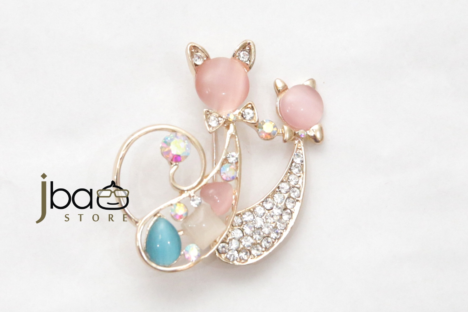 Lovely Cat Tudung Pin Brooch Scarf Pin Birthday Annual Dinner Party Va