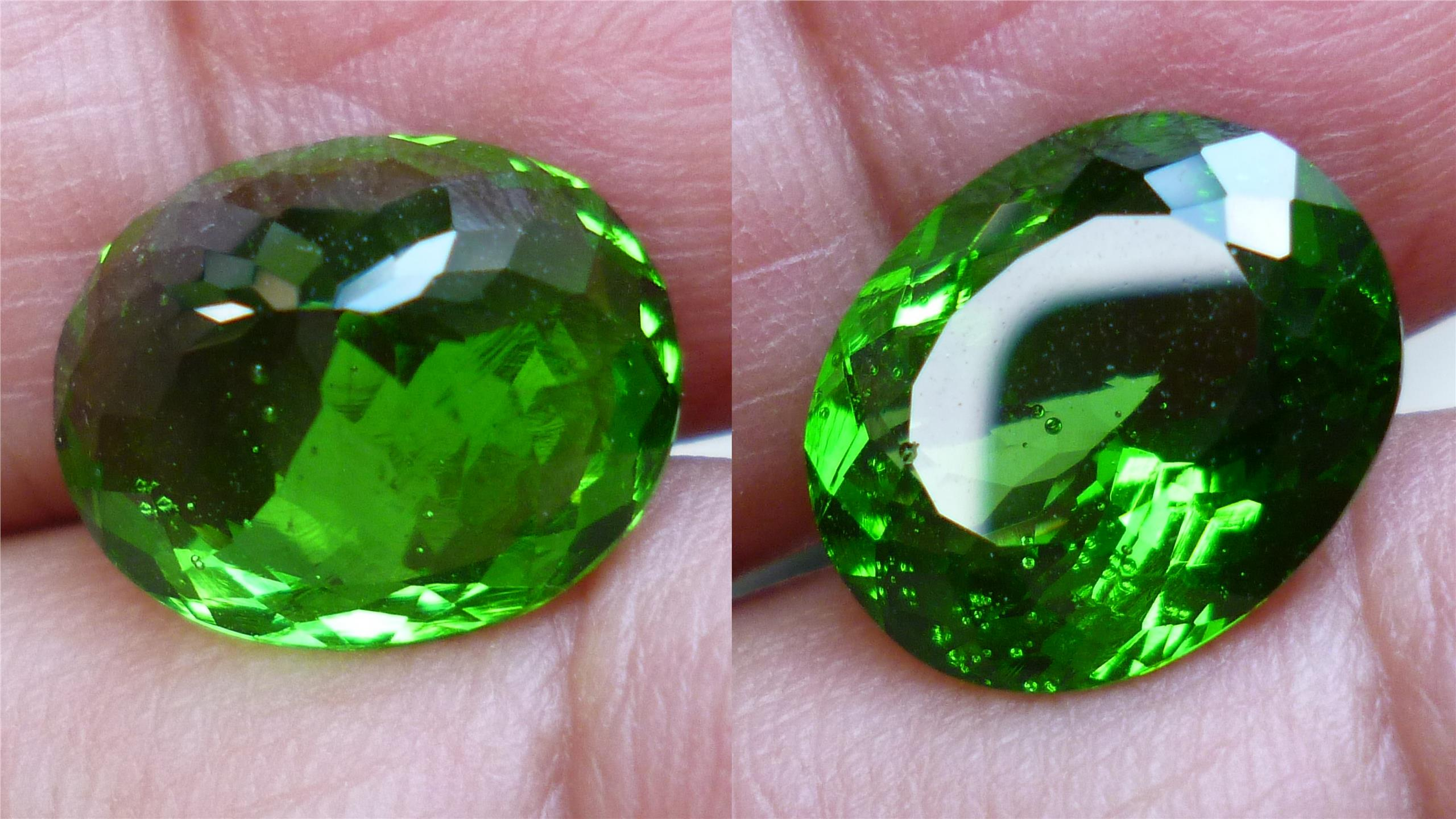 LOVELY GREEN QUARTZ OVAL LAB CREATED