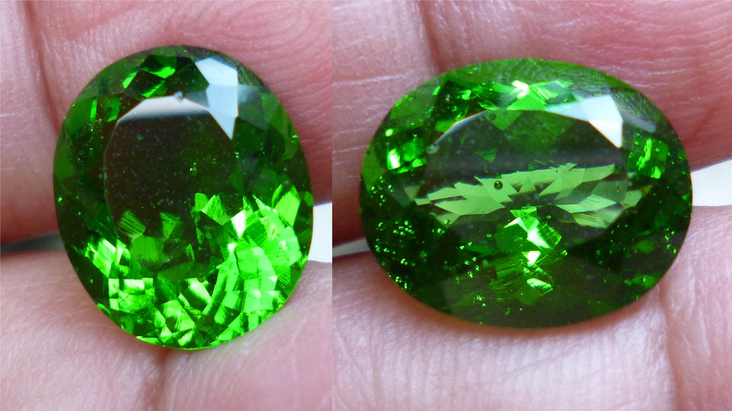 LOVELY GREEN QUARTZ OVAL
