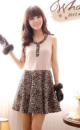 Lovely Leopard Dress 12707